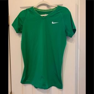 Nike Green Pro Combat Fitted Shirt